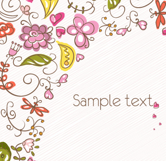 Exciting Vector Vector Graphic: Vector Graphic Abstract Floral Background 5