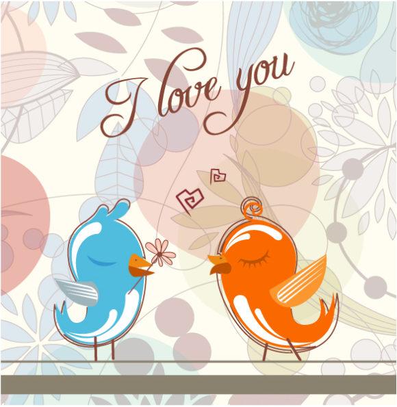 Illustration, Birds Vector Illustration Love Birds Vector Illustration 5 9 2011 116