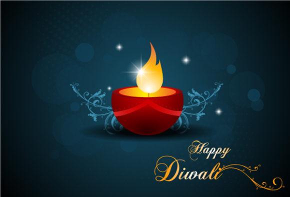 Illustration, Star Eps Vector Diwali Card Vector Illustration 6 10 2011 106