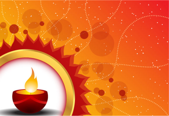 Diwali Card Vector Illustration 6 10 2011 109