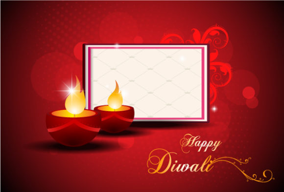 Trendy Card Vector Illustration: Diwali Card Vector Illustration Illustration 6 10 2011 110