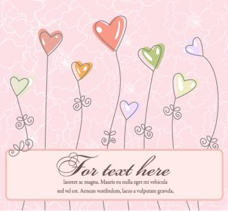 Abstract Frame With Hearts Vector Illustration Vector Illustrations vector