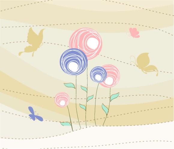 Astounding Abstract Eps Vector: Abstract Butterflies Eps Vector Illustration 1