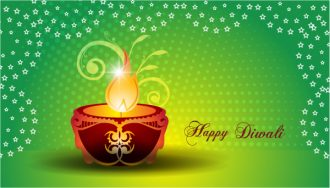 Vector Diwali Greeting Card Vector Illustrations star
