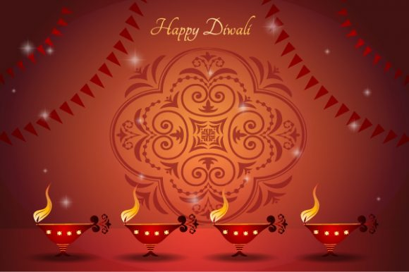 Awesome Greeting Vector Illustration: Vector Illustration Diwali Greeting Card 7 10 2011 103