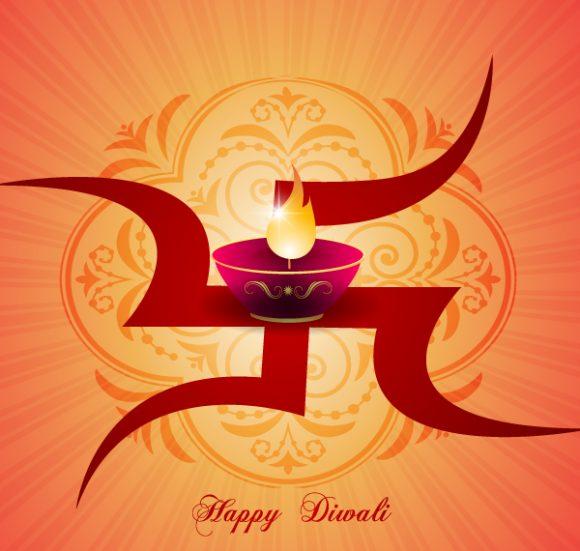 Bold Abstract-2 Vector: Vector Diwali Greeting Card 7 10 2011 107