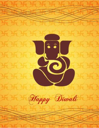Diwali Card Vector Illustration Vector Illustrations vector