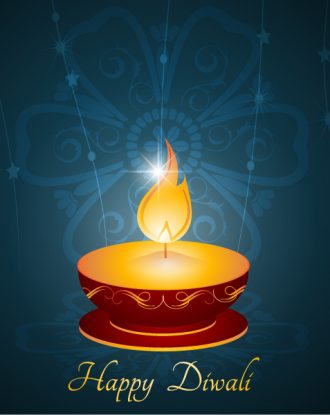 Vector Diwali Greeting Card Vector Illustrations star