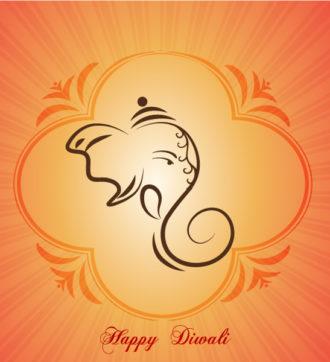 Diwali Card Vector Illustration Vector Illustrations floral