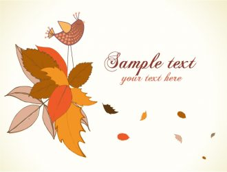 Autumn Floral Background Vector Illustration Vector Illustrations floral
