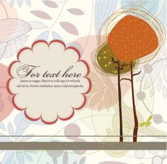 Autumn Floral Background Vector Illustration Vector Illustrations tree