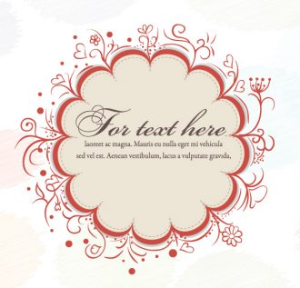 Autumn Frame With Floral Vector Illustration Vector Illustrations floral