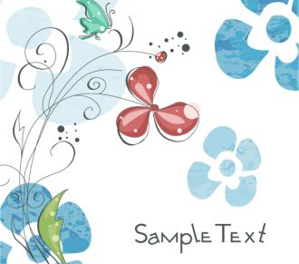 Butterfly With Floral Vector Illustration Vector Illustrations floral