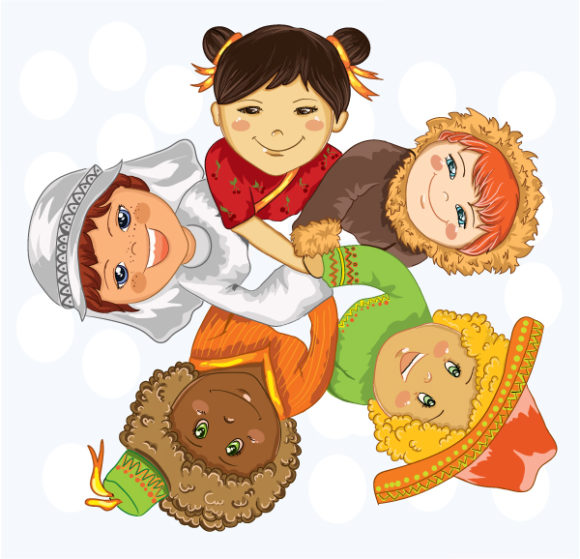 New Holding Vector Illustration: Kids Holding Hands Vector Illustration Illustration 8 7 2011 101
