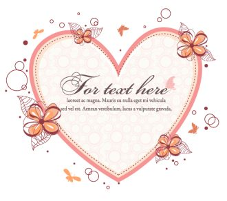 Heart With Floral Vector Illustration Vector Illustrations floral