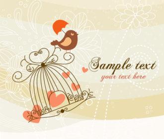 Bird Singing Vector Illustration Vector Illustrations umbrella