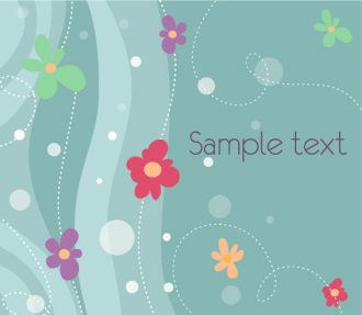 Floral Background Vector Illustration Vector Illustrations floral