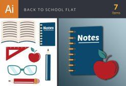 Back To School Vector Flat Vector packs glasses