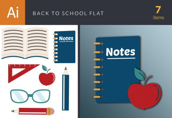 Back To School Vector Flat DesignTnT Back to School Vector Flat vector small