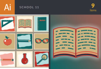 Back To School Vector Set 11 Vector packs glasses