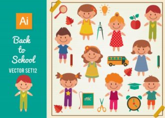 Back To School Vector Set 12 Vector packs plant