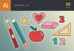 Back To School Vector Set 123 Vector packs star