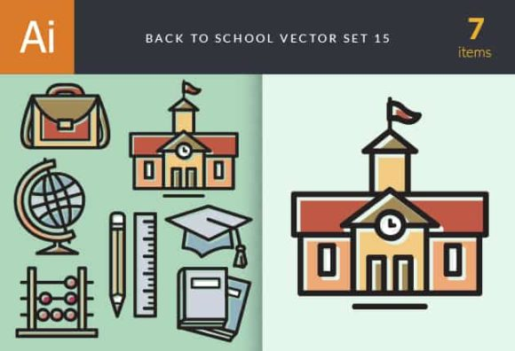 Back To School Vector Set 15 DesignTnT Back to School Vector Set 15 vector Small