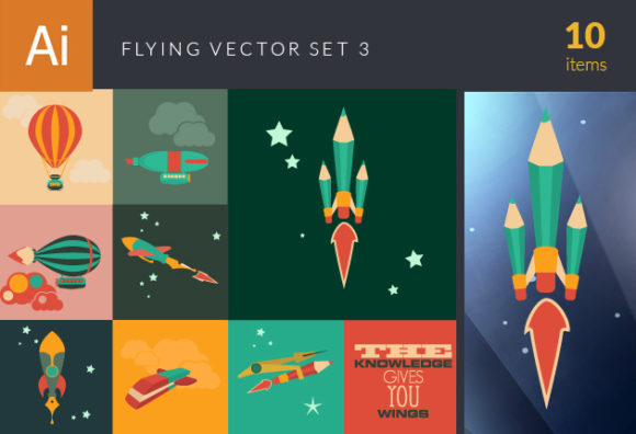 Flying Vector Set 3 DesignTnT Flying Vector Set 3 vector small
