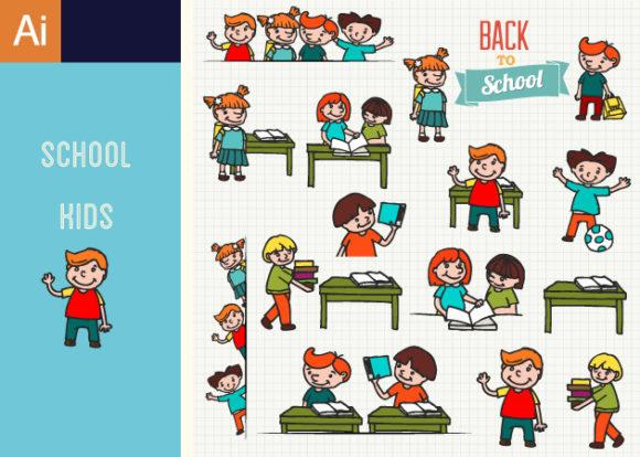 Kids School Vector Set 1 5