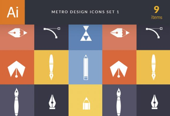 Metro Design Icons 1 Vector packs broom