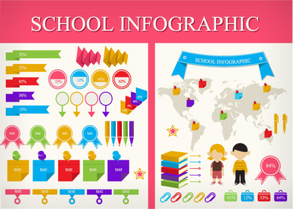 School Infographic Vector DesignTnT School Infographic vector small