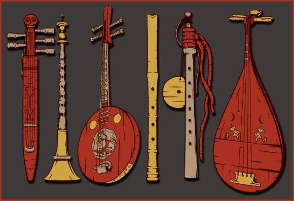 Japanese Musical Instruments Vector Pack Musical instrumets 2