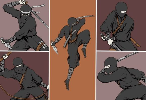 Ninja Vector Pack  1 Vector packs japanese