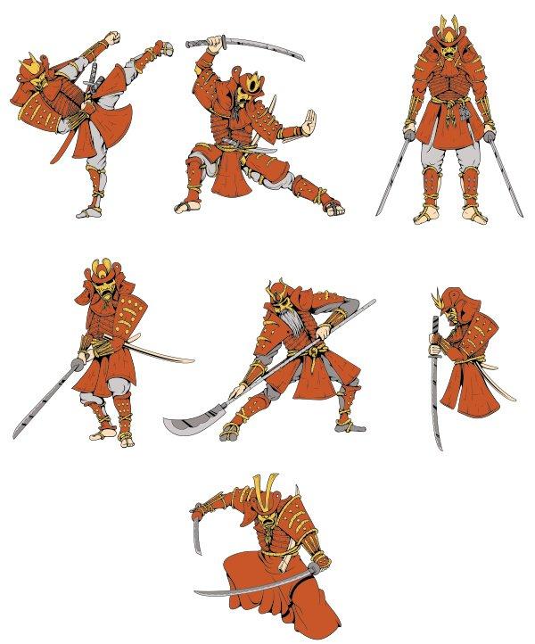 Samurai Vector Pack 2 Samurai preview 1 5