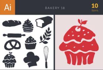 Bakery Vector Set 18 Vector packs flat
