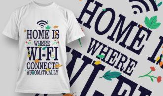 T-Shirt Design 1412 T-shirt Designs and Templates vector