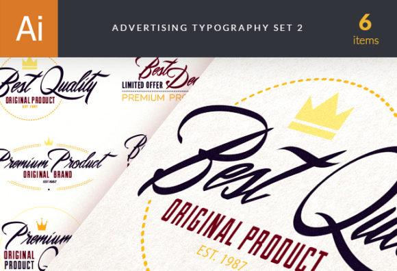 Advertising Typography Vector Set 2 designtnt advertisingtypography2 vector small