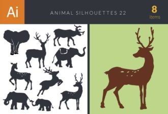 Animal Silhouettes Vector Set 22 Vector packs vector