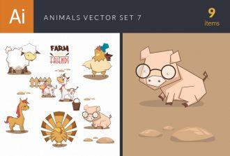 Animals Vector Set 7 Vector packs horse