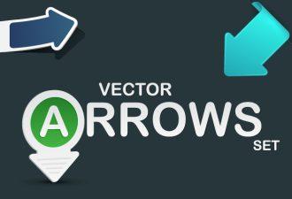 Arrows Stickers Vector Vector packs arrow