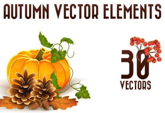 Autumn Elements Vector Vector packs nature