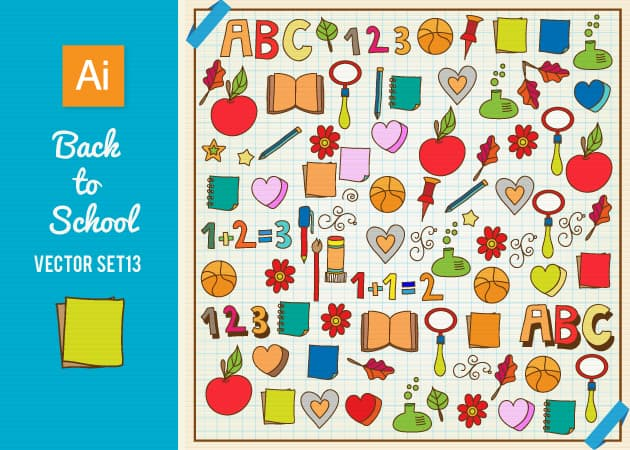 Back To School Vector Set 13 Vector packs star