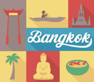 Bangkok Vector Vector packs palm tree