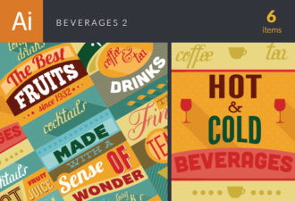 Beverages Vector Set 2 Vector packs abstract