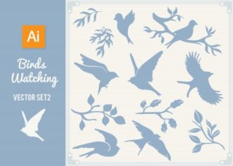Bird Watching Vector Set 1 Vector packs bird