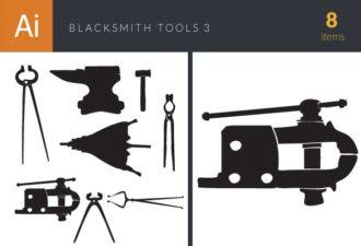 Blacksmith Tools Vintage Vector Set 3 Vector packs hammer