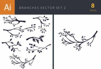 Branches Vintage Vector Set 2 Vector packs nature