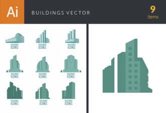 Building Icons Vector Set 2 Vector packs flat
