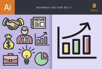 Designtnt-business Doodles Vector Set 5-vector Vector packs bag