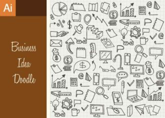 Business Idea Doodle Vector Set 1 Vector packs mouse